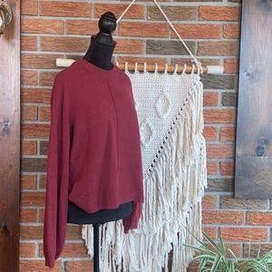 Frank & Oak Burgundy Sweater